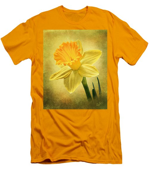 Men's T-Shirt (Slim Fit) featuring the photograph Daffodil by Ann Lauwers