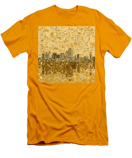 Dallas Skyline Abstract 6 Men's T-Shirt (Athletic Fit)