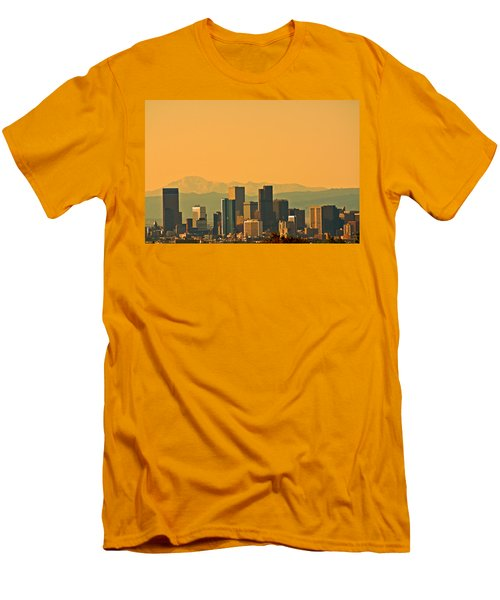 Denver Skyline Men's T-Shirt (Slim Fit) by Colleen Coccia