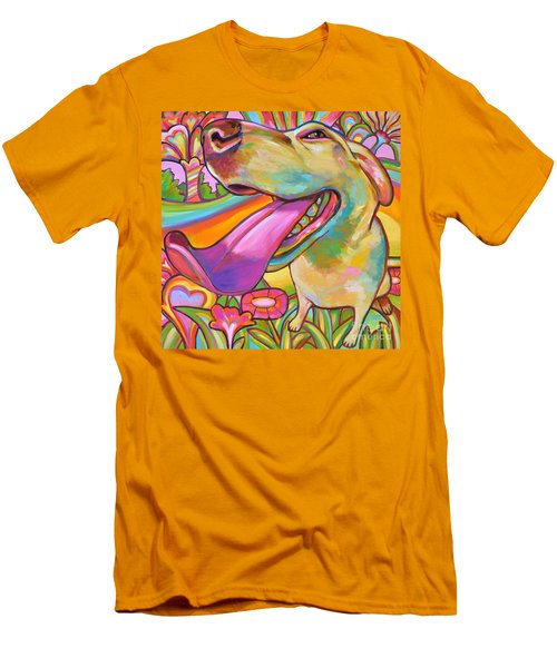 Men's T-Shirt (Slim Fit) featuring the painting Dog Daze Of Summer by Robert Phelps