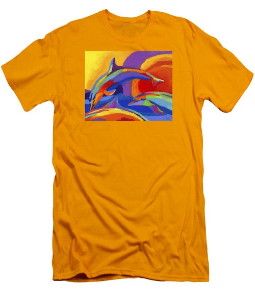 Dolphin Dance Men's T-Shirt (Slim Fit) by Stephen Anderson