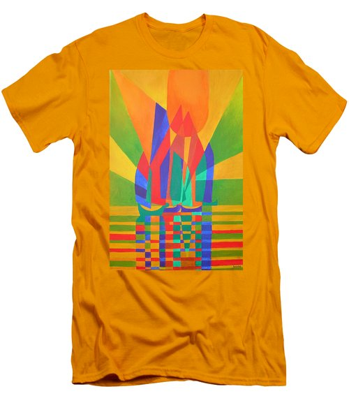 Men's T-Shirt (Slim Fit) featuring the painting Dreamboat by Tracey Harrington-Simpson