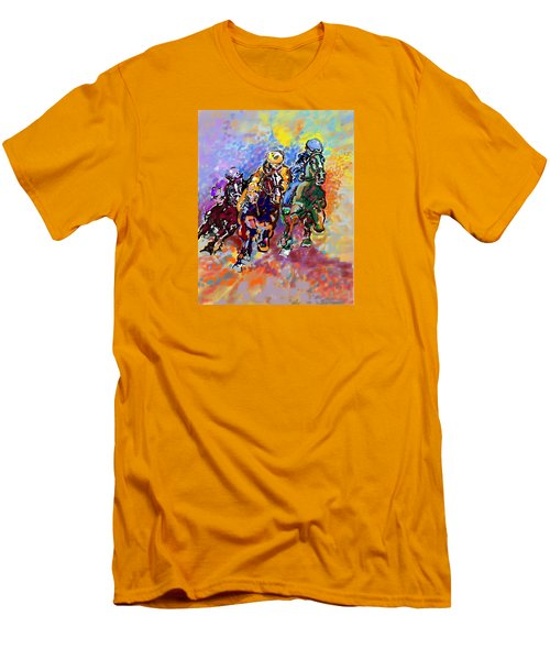 Men's T-Shirt (Slim Fit) featuring the digital art Dynamic Winner by Mary Armstrong