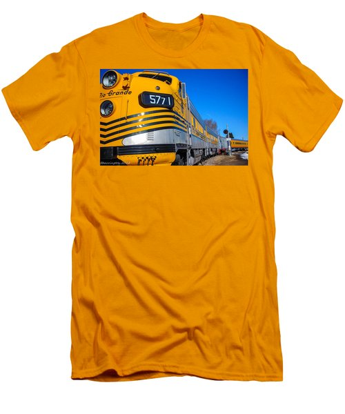 Men's T-Shirt (Slim Fit) featuring the photograph Engine 5771 by Shannon Harrington