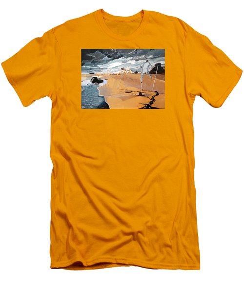 Men's T-Shirt (Slim Fit) featuring the painting Faraway Lejanias by Lazaro Hurtado