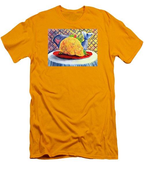 Fish Taco Men's T-Shirt (Slim Fit) by Randy Burns