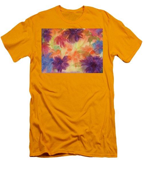 Floral Fantasy Men's T-Shirt (Slim Fit) by Ellen Levinson