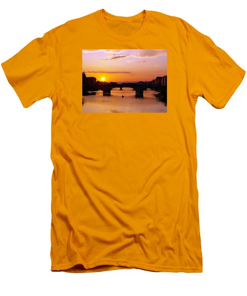 Florence Sunset  Men's T-Shirt (Slim Fit) by Haleh Mahbod