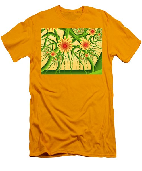 Fractal Summer Pleasures Men's T-Shirt (Slim Fit) by Gabiw Art