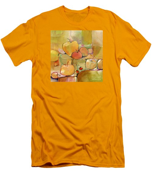 Men's T-Shirt (Slim Fit) featuring the painting Fruit Still Life by Michelle Abrams