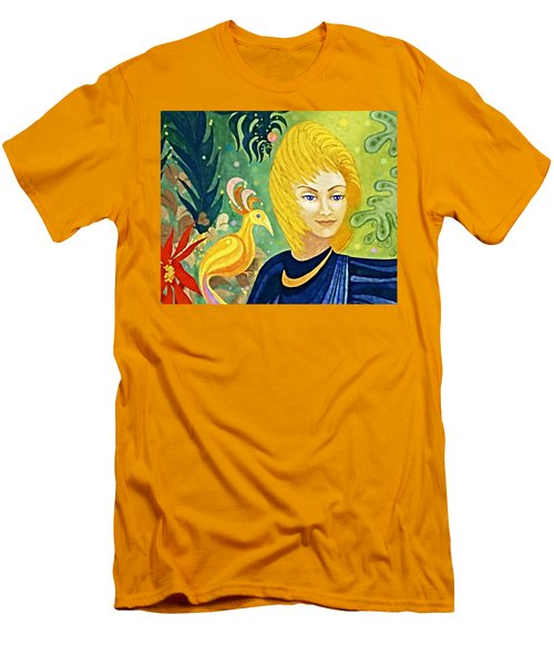 Gaia - Spirit Of Nature Men's T-Shirt (Slim Fit) by Hartmut Jager