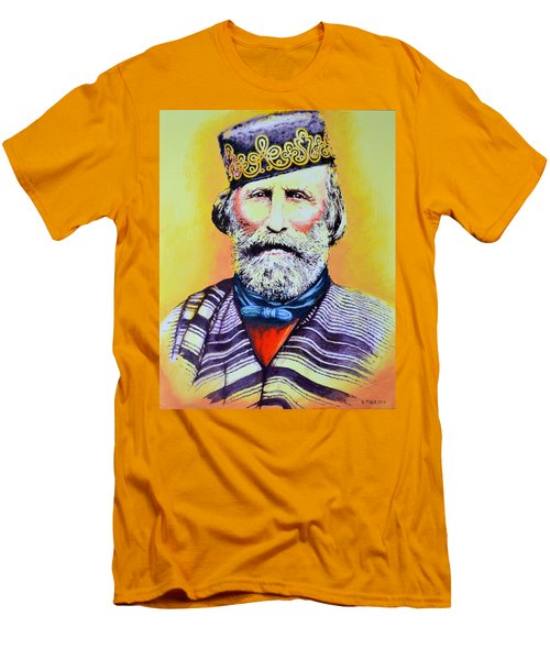 Giuseppe Garibaldi Men's T-Shirt (Slim Fit) by Victor Minca