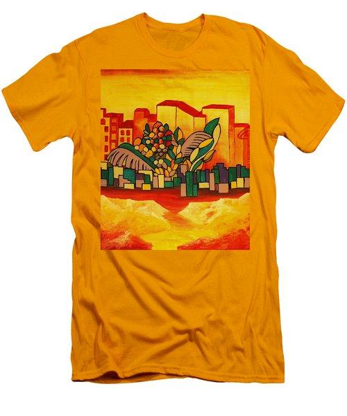 Global Warning Men's T-Shirt (Slim Fit) by Barbara St Jean