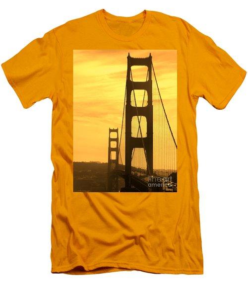 Golden Gate Bridge  Men's T-Shirt (Slim Fit) by Clare Bevan