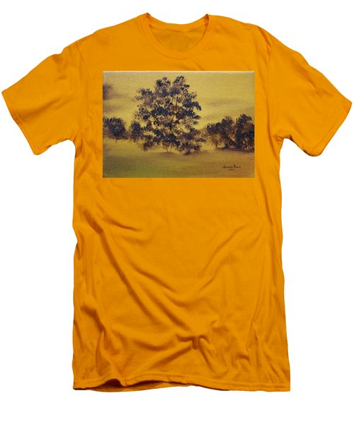 Golden Landscape Men's T-Shirt (Slim Fit) by Judith Rhue