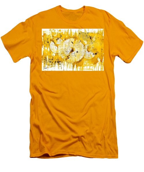 Men's T-Shirt (Slim Fit) featuring the painting Golden Sun Rise - 1290.121912 by Kris Haas