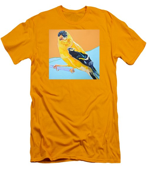 Goldfinch Men's T-Shirt (Slim Fit) by Jamie Downs