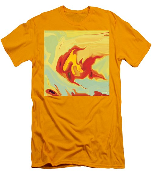 Men's T-Shirt (Slim Fit) featuring the digital art Goldfish 2 by Rabi Khan