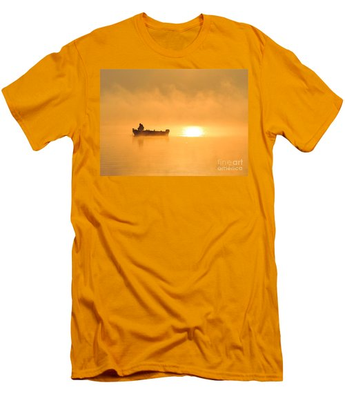 Men's T-Shirt (Slim Fit) featuring the photograph Gone Fishing by Terri Gostola