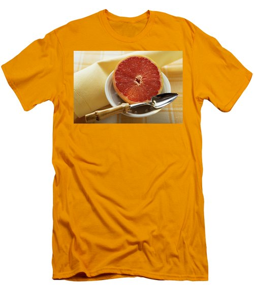 Grapefruit Half With Grapefruit Spoon In A Bowl Men's T-Shirt (Athletic Fit)