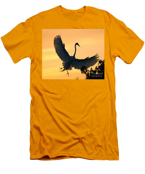 Men's T-Shirt (Slim Fit) featuring the photograph  Sunset Ballet by John F Tsumas