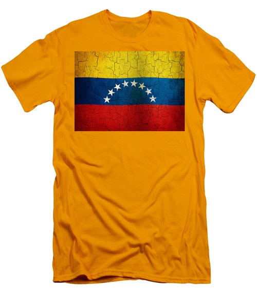 Grunge Venezuela Flag Men's T-Shirt (Athletic Fit)