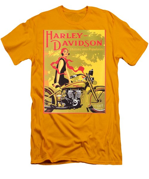 Men's T-Shirt (Slim Fit) featuring the painting Harley Davidson 1927 Poster by Reproduction