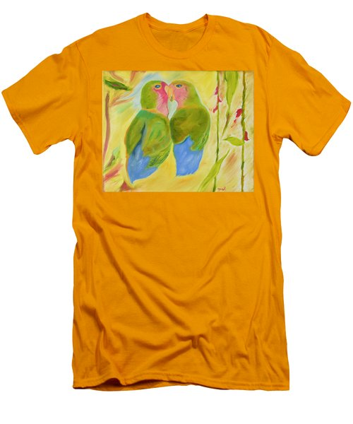 Men's T-Shirt (Slim Fit) featuring the painting Harmony by Meryl Goudey