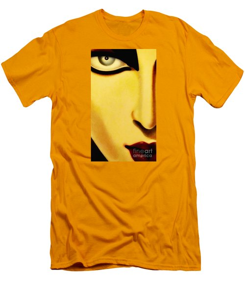 Men's T-Shirt (Slim Fit) featuring the photograph Her Face by Newel Hunter