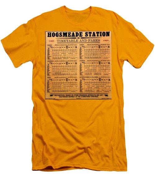 Hogsmeade Station Timetable Men's T-Shirt (Slim Fit) by David Lee Thompson