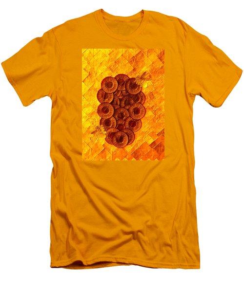 Men's T-Shirt (Slim Fit) featuring the digital art Honeybee 2 by Lorna Maza