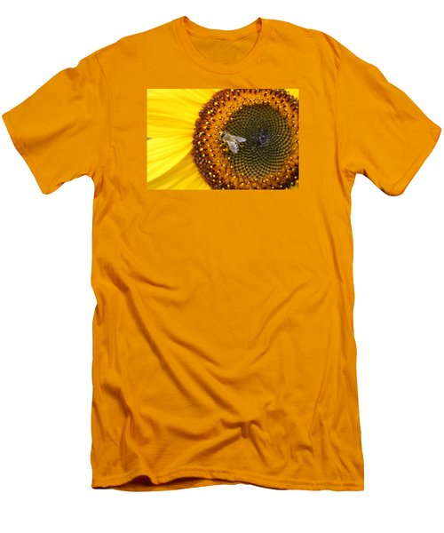 Honeybee On Sunflower Men's T-Shirt (Athletic Fit)