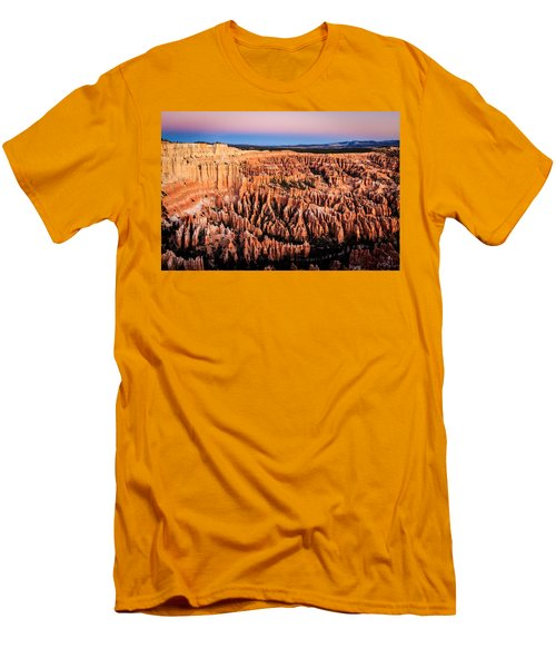 Men's T-Shirt (Slim Fit) featuring the photograph Hoodoos At Sunrise by Peta Thames