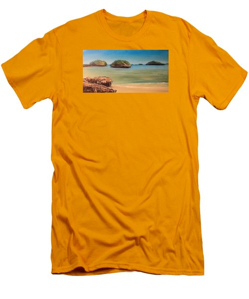 Hundred Islands In Philippines Men's T-Shirt (Slim Fit) by Remegio Onia