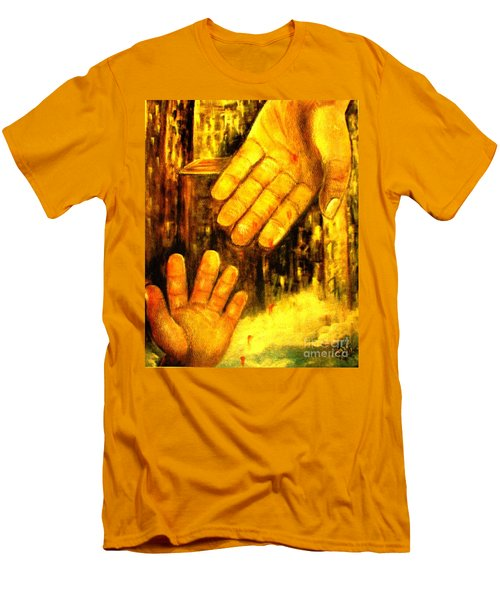 Men's T-Shirt (Slim Fit) featuring the painting I Chose You by Hazel Holland