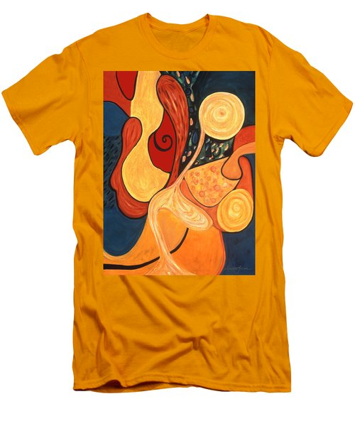 Men's T-Shirt (Slim Fit) featuring the painting Illuminatus 4 by Stephen Lucas