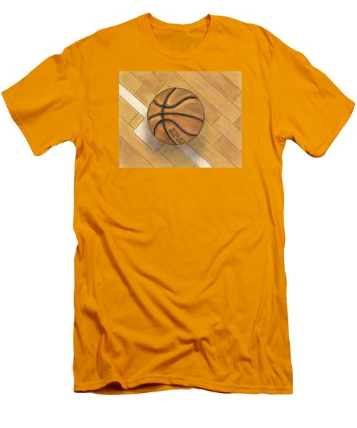 Men's T-Shirt (Slim Fit) featuring the drawing In The Post by Troy Levesque