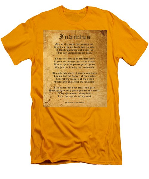 Invictus As A Tribute To Nelson Mandela Men's T-Shirt (Athletic Fit)