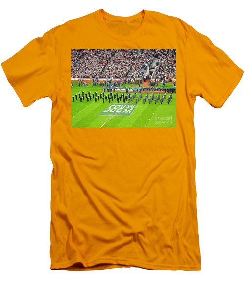 Men's T-Shirt (Slim Fit) featuring the photograph Ireland Vs France by Suzanne Oesterling