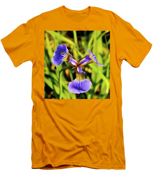 Men's T-Shirt (Slim Fit) featuring the photograph Iris by Cathy Mahnke