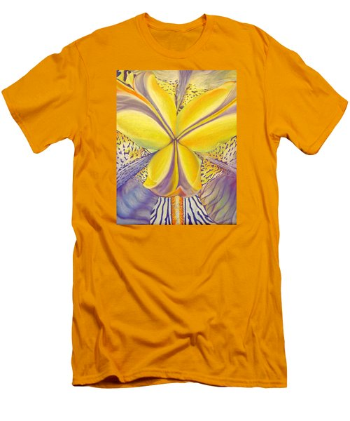 Men's T-Shirt (Slim Fit) featuring the drawing Iris by Joshua Morton