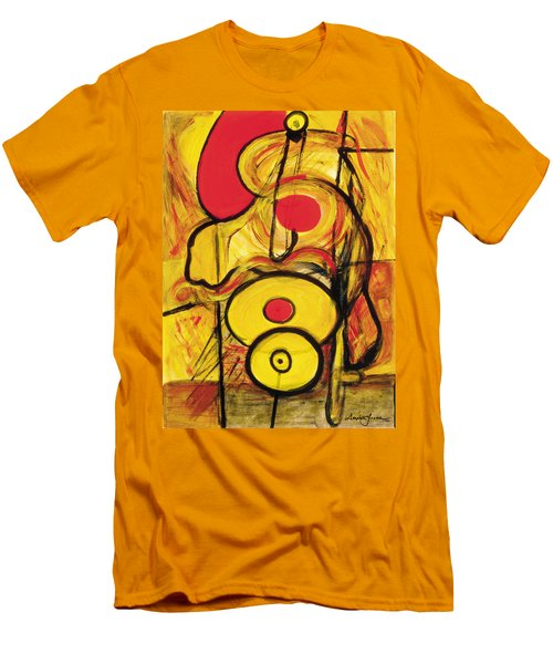 Men's T-Shirt (Slim Fit) featuring the painting It's All Relative by Stephen Lucas