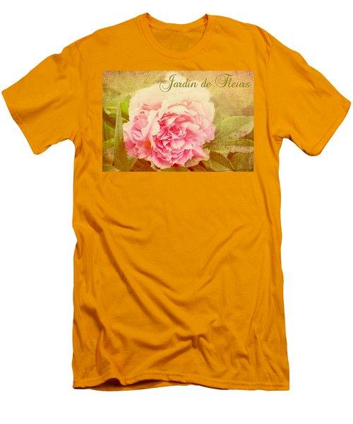Men's T-Shirt (Slim Fit) featuring the photograph Jardin De Fleurs by Trina  Ansel