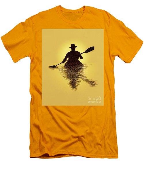 Kayaker Sunset Men's T-Shirt (Slim Fit) by Garry McMichael