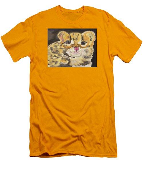 Peek A Boo Kitty Men's T-Shirt (Slim Fit) by Meryl Goudey