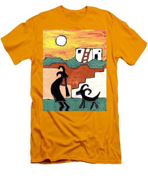 kokopeli at the Pueblo Men's T-Shirt (Athletic Fit)