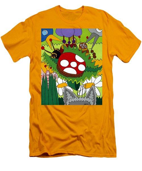 Lady Bug Men's T-Shirt (Slim Fit) by Rojax Art