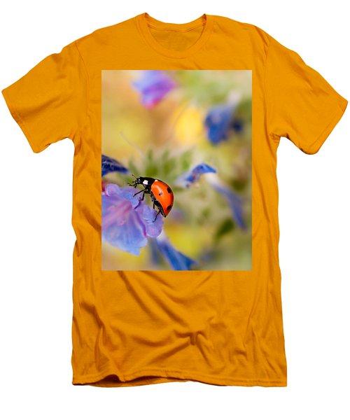 Ladybird Men's T-Shirt (Slim Fit) by Meir Ezrachi