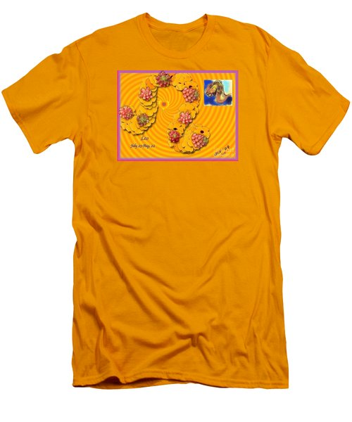 Men's T-Shirt (Slim Fit) featuring the digital art Leo  by The Art of Alice Terrill