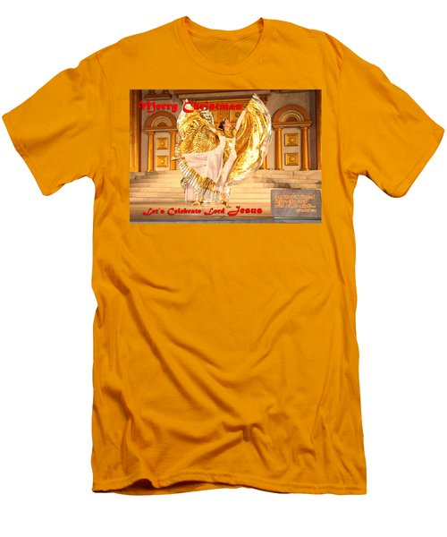 Let's Celebrate Lord Jesus And Dance Men's T-Shirt (Athletic Fit)